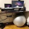 トレーニングにもなる?椅子を捨ててバランスボールに変えて在宅ワークしてみた。