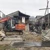 南長尾町5-135分譲地の解体風景