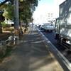 波之上臨海道路で自転車を危険に晒す