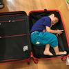 真っ赤なスーツケース。