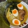 「とんこつラーメン松平」のラーメンと半熟煮玉子と小ライス@北久里浜