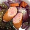 JAで紫白菜を買ったのでコンソメスープにしてみたよ (ねこのダイエット用もあり〼)