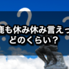 【馬鹿も休み休み言え】←どのくらいの期間?