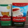 【カルディ】CARMIEN オーガニック ルイボスティーとグリーンルイボスティー飲み比べ。