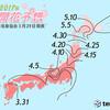 【最新版】桜の予想開花日・予想満開日(2017年3月29日発表)