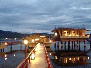 鳥取の老舗温泉旅館「望湖楼」の湖上露天風呂が絶景で素晴らしかったからまた行きたい