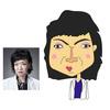 米倉涼子さんの似顔絵と、清水ミチコさんの似顔絵。ドクターXを見ながら、似顔絵描き。