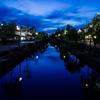 美しい倉敷美観地区の夕景