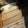 玄関デッキ再塗装