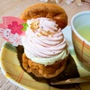 桜と抹茶のダブルシュークリーム