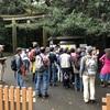 明治神宮探鳥会にたくさんのバードウォッチャー