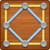 「LinePuzzle」線を引っ張って図形を作るパズル