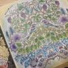 『ねむれる森』より「草木を彩る鳥のさえずり」の塗り絵