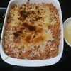 ポテトグラタン、ほうれん草炒め、オニオンスープ