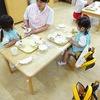 満3歳児クラスも初給食です!