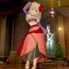 【レインシューズ】で酒場の踊り子コーデ