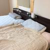 そろそろ寝具の夏支度 リネンガーゼケットとニトリのNクール寝具へ入れ替え