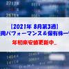 【株式】週間運用パフォーマンス&保有株一覧(2021.8.20時点) 年初来安値更新中...