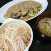 麻婆茄子、大根サラダ、スープ