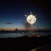 海洋博公園の花火大会をホテルの部屋から観賞してみた。