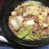 豚ひき肉とキャベツの肉味噌丼