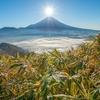 【登山】今年もダイヤモンド富士で有名な「竜ヶ岳」に登ってきました