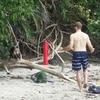 【猿とアライグマと人間の三つ巴】マヌエルアントニオ公園 -コスタリカ