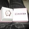 d0010 Comtex 腕時計 カレンダー アナログ クォーツ ウオッチ レディース ホワイト