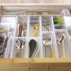キッチン背面収納の引出しの整理