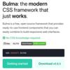 CSS フレームワーク Bulma チートシート