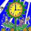 ひまわりの時計タワーとハーモニー!