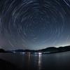 北極星を中心に。仁淀川河口にて