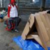 ブリュッセルで、ホームレスのための折り紙式テント登場