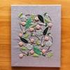 手刺繍のファブリックパネル