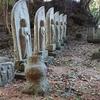 【大国見山】古い信仰のこん跡が残る登山道【桃尾の滝から墓域まで】