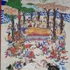 二幅の掛け軸、明治期の涅槃図と大正期の千観音仏