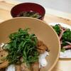 今日の夕食 アジの蒲焼丼☆