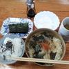 素麺の味噌汁とヨーグルト