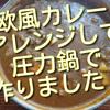 先日の欧風カレー、アレンジして圧力鍋で作ってみました!簡単で美味しいです!