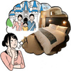 すごーく大きいベッドで寝る!
