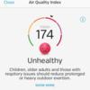 ひどい大気汚染のため、「屋外活動を減少せよ」という一日。