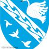 白鳥の紋章。青空に。