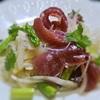 カツオとアスパラの春雨サラダ、ピーナツ風味