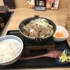 禁酒日のディナー(牛すき鍋膳)