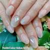 美爪のために久々にジェルネイル復活です♡クールビューティなオーロラシルバーグラデーションネイル☆