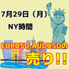 【7/29 NY時間】分かりやすい形の時だけ勝負しよう!EURUSDの1.110、AUDUSDの0.6900に注目!!