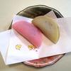 桜餅と抹茶餅