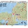 2016年08月20日 20時30分 滋賀県北部でM2.5の地震