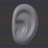 顔のモデリングの超詳細手順 その5 耳を作る!:Blender