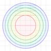 同心円環形の接弦の長さと面積